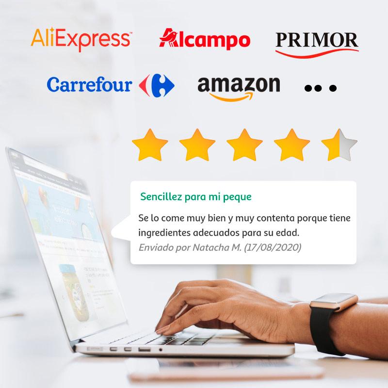 Rates y Reviews en comercios on-line