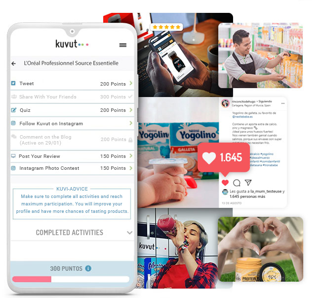Influencer marketing Kuvut TEK for web, iOS and Android