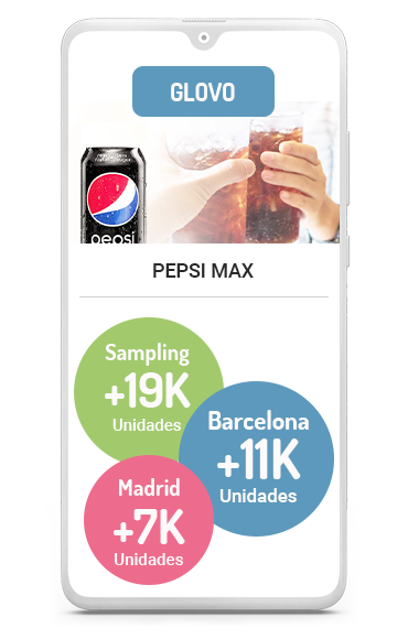 Business case sampling Glovo con Pepsi MAX