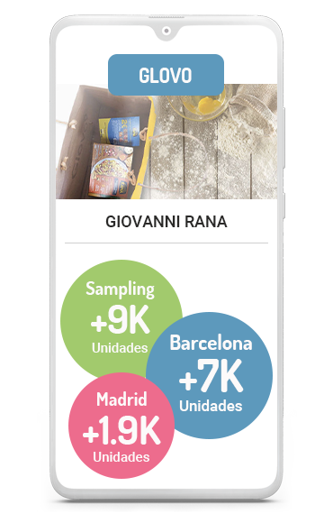 Business case sampling Glovo con Rana