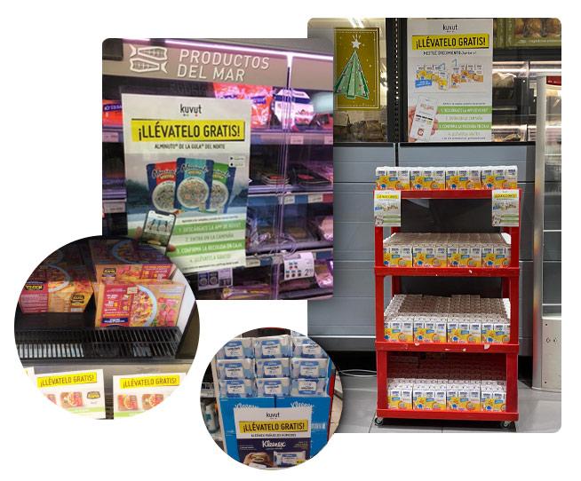 Sampling en supermercados frío y congelado.