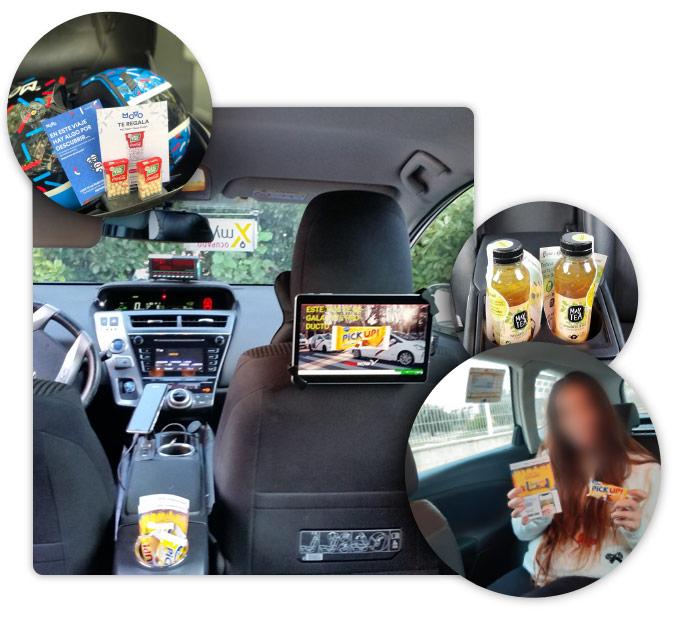 Sampling en el momento de consumos mediante taxis, motos, coches,..