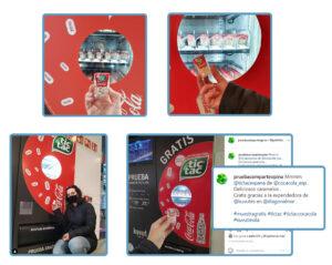 Los consumidores encantados con su muestra gratis de TicTac obtenida en las máquinas Kuvut, generan UGC para sus RRSS