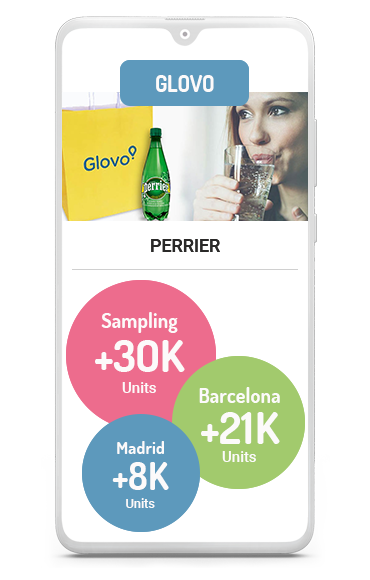 Home Sampling business case glovo perrier