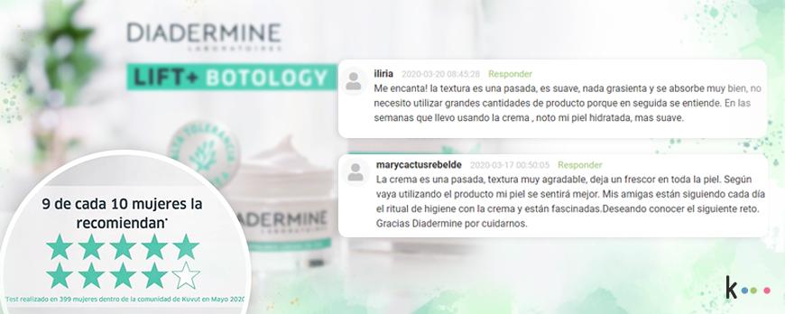 En una campaña WOM y de rates and reviews para Diadermine, logramos excelentes insights para la marca