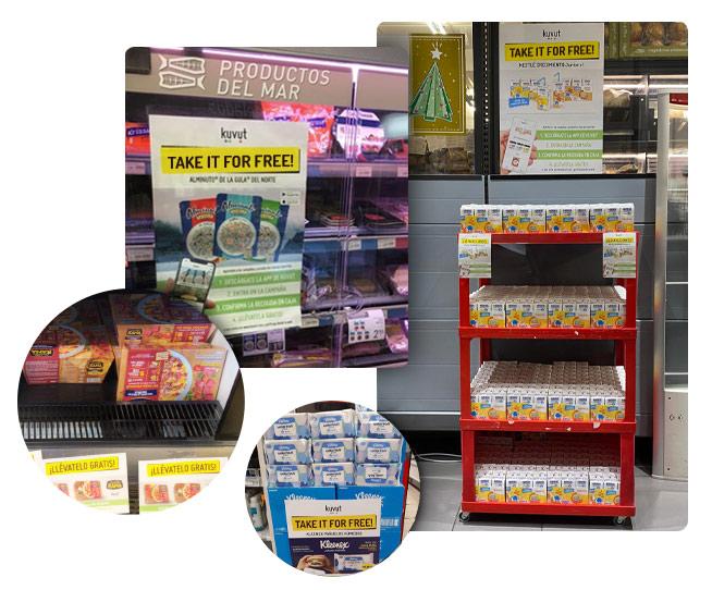 Food supermarket sampling