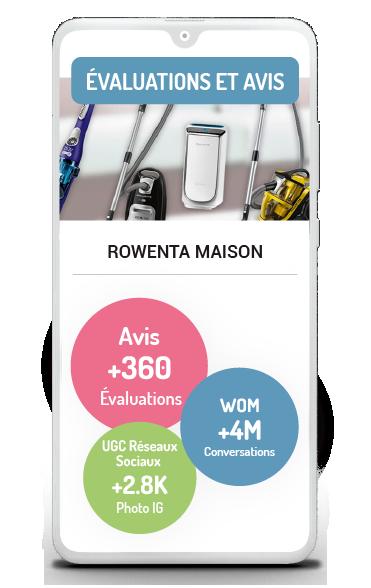 Évaluation et avis Business case Evaluations et avis de Rowenta
