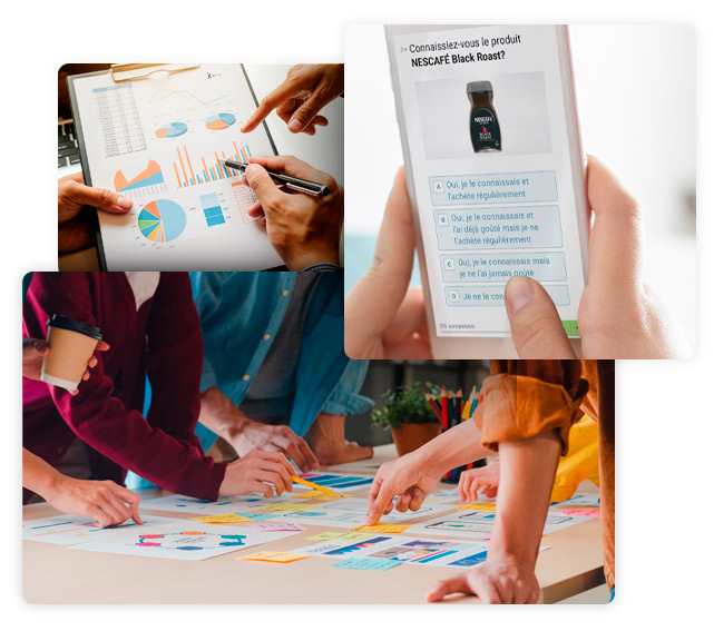 Ad hoc multidisciplinaire qui apporte des solutions d'études de marché qualitatives et quantitative