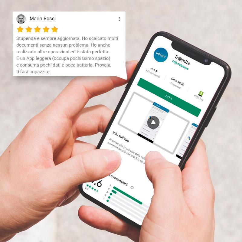 Valutazioni Recensioni App obiettivo