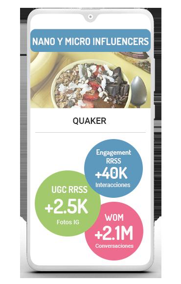 Descubre el business case de un influencer marketing con quaker